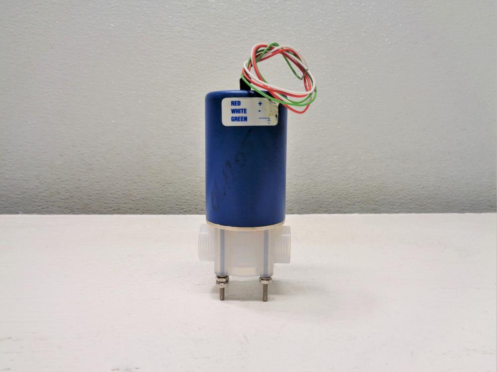 "Galtek Fluoroware 1/4"" 2-Way Solenoid Valve, Model# 203-1414-415"