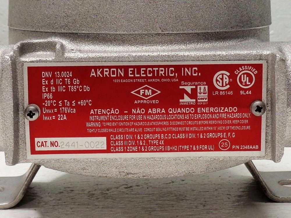 Akron Electric 6-Wire Junction Box, #2441-0022