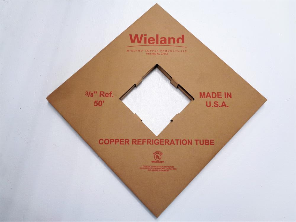 Lot of (2) Wieland Copper Refrigeration Tube 3/8 in. x 50 ft.