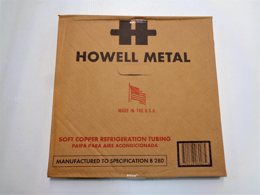 Lot of (2) Howell Metal Soft Copper Refrigeration Coil Tube 3/8 in. x 50 ft.