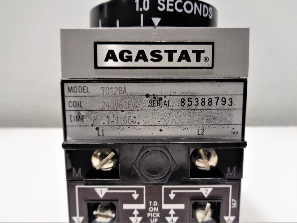 Agastat .1-1 Second Timing Relay 7012BA