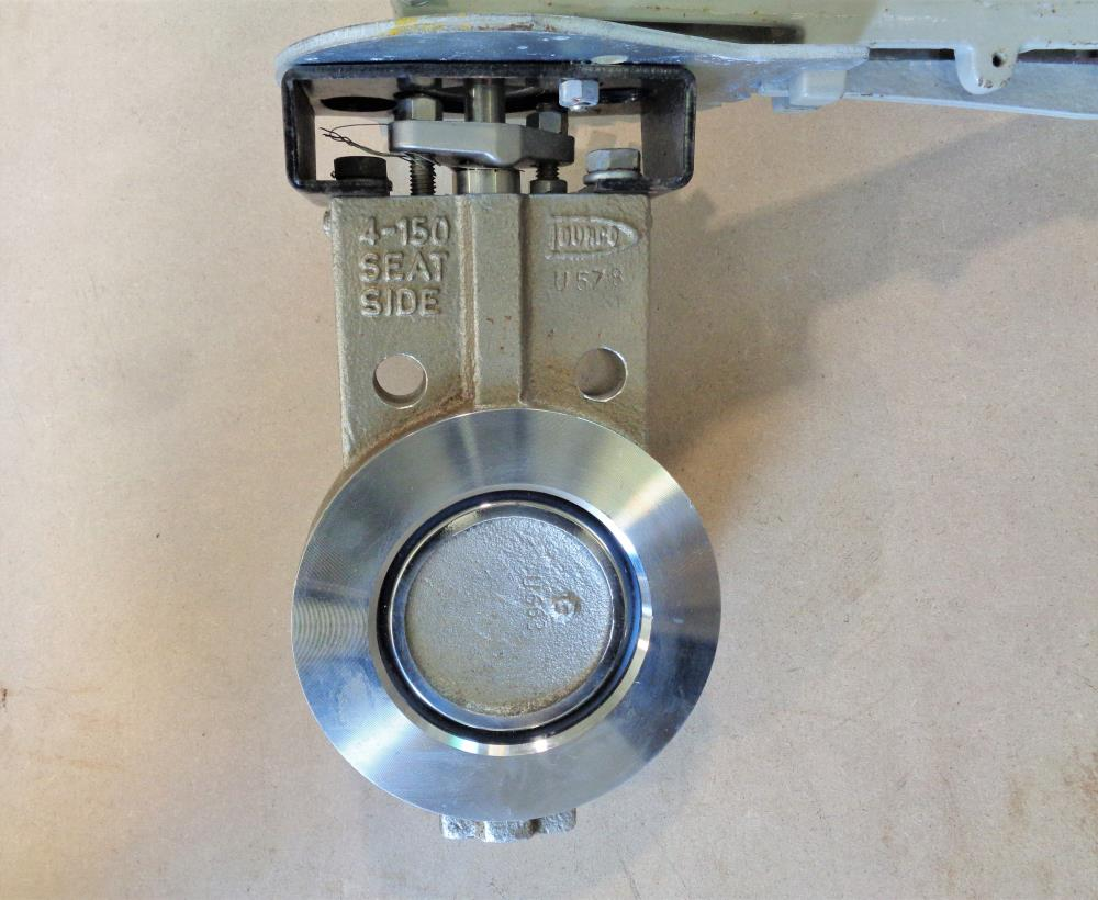 "Durco 4"" 150# Butterfly Valve, Stainless Steel, Fig# BX2"