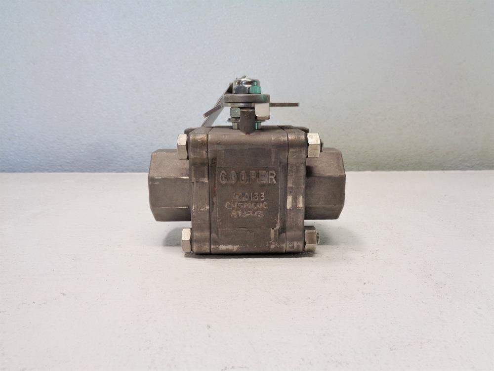 "Cooper 1"" 150# 2-Way 3-Pc Ball Valve, Inconel 825, Fig# 3B150SE-C-I82/00-FH"