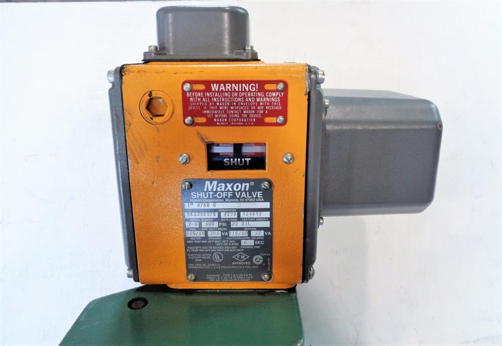 Maxon shut off valve manual
