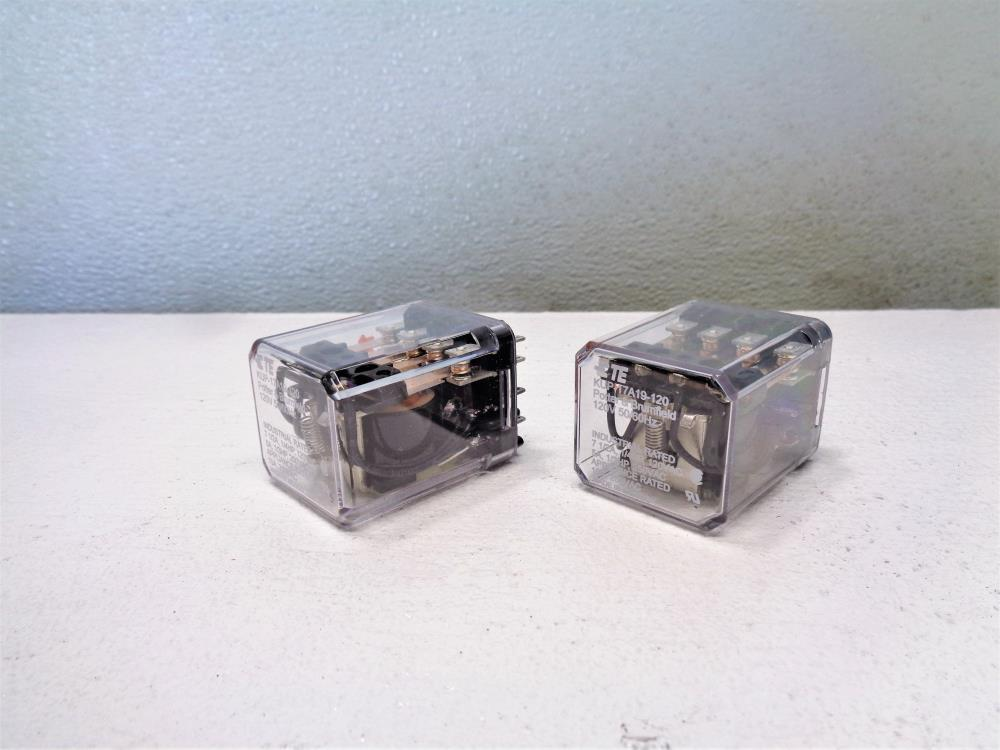 Lot of (2) Potter Brumfield TE 120V Relay #KUP-17A19-120