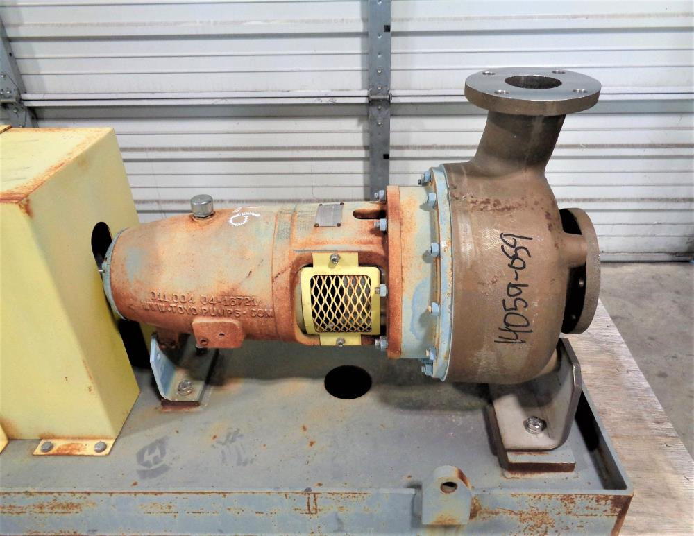 "Toyo 4"" x 3"" Centrifugal Pump DEH-72-80-PF4-CD4-D# with 40HP Motor"