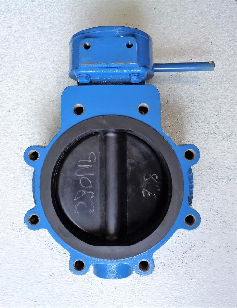 "Media 8"" Gear Operated Butterfly Valve, Carbon Steel Body, #8WCB-150CWP"