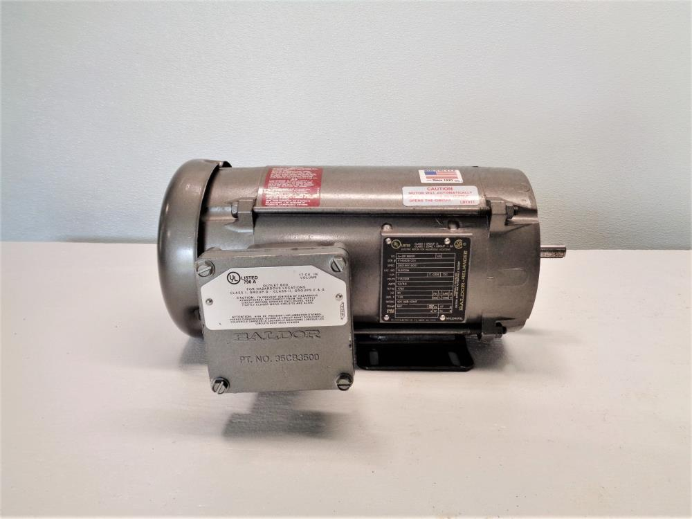Baldor Reliance 1hp Electric Motor Cl5023a 35g166y190g1