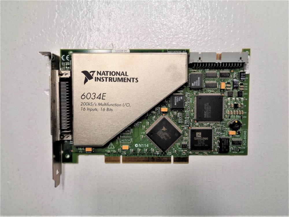 National Instruments 6034E Multifunction I/O Card #187576C-01