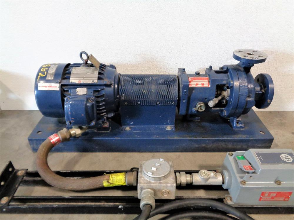 "Griswold 811S Centrifugal SS Pump 1.5"" x 1"" w/ 5HP Exp. Proof Motor & Starter"