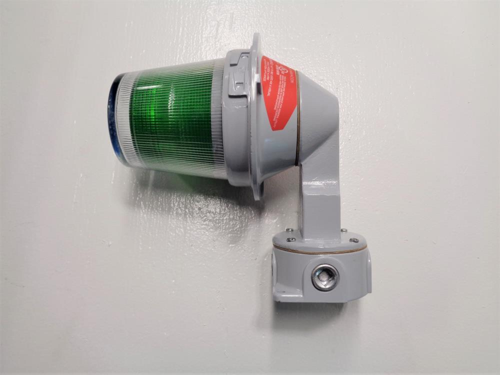 Edwards Signaling Adaptabeacon Hazardous Loc. Green LED Light 107XBRMG120A