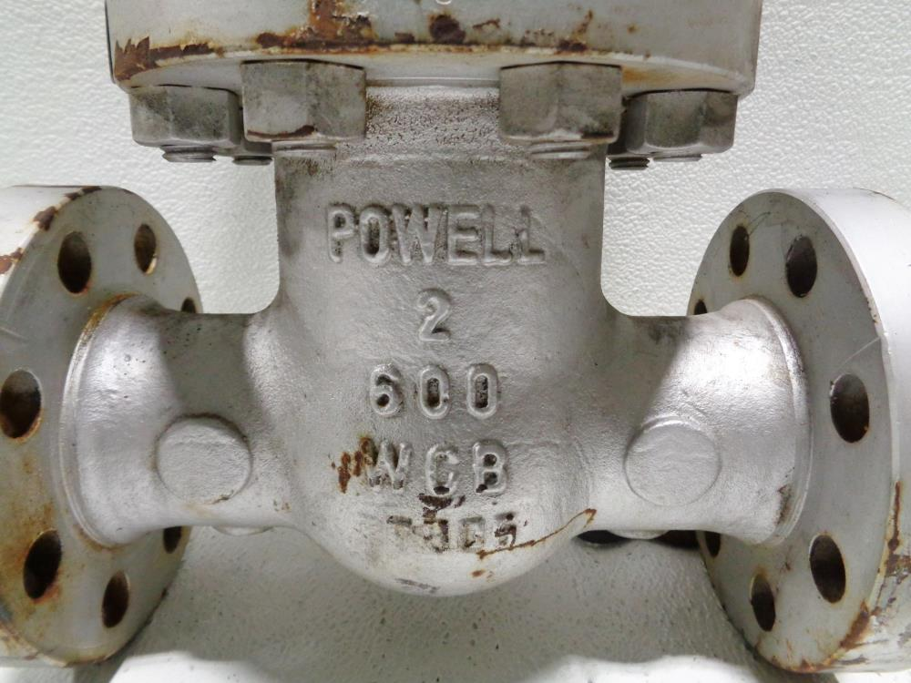"Powell 2"" 600# RF WCB Gate Valve, Fig# 2.006003"