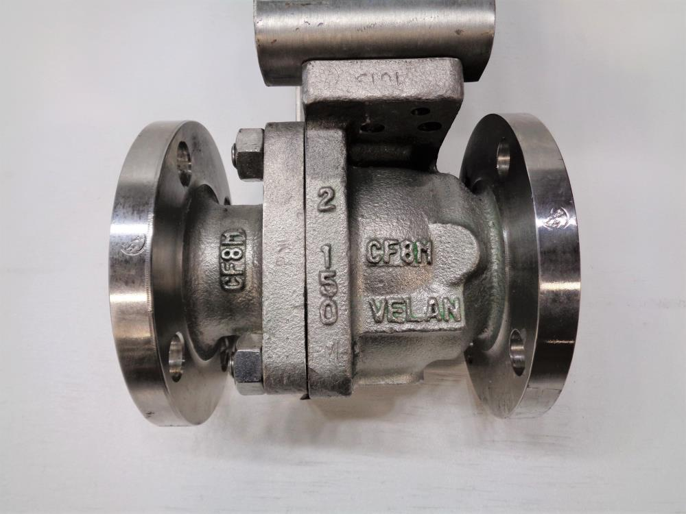 "Velan 2"" 150# CF8M 2-Pc Ball Valve, Fig# 01X13-BB2A with Rotex Actuator ECV100"