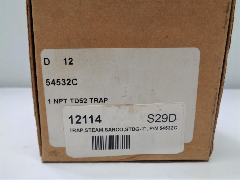 "Spirax Sarco TD52 Thermodynamic Steam Trap 1"" #54532C"