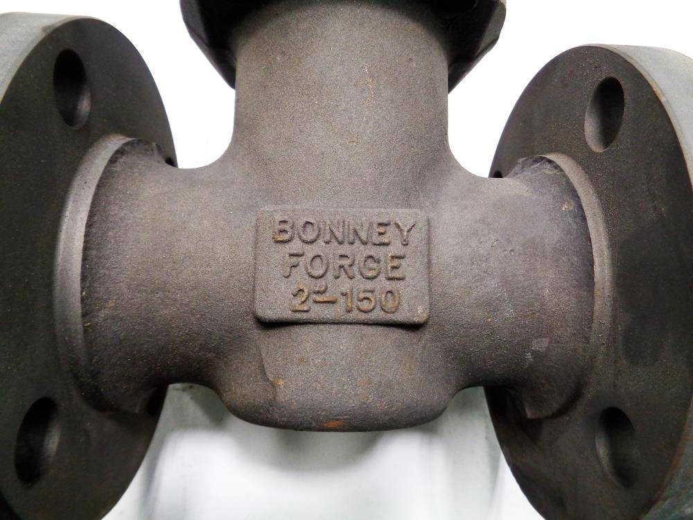 "Bonney Forge 2"" 150# Gate Valve, A105 Carbon Steel, Fig# L1 11"