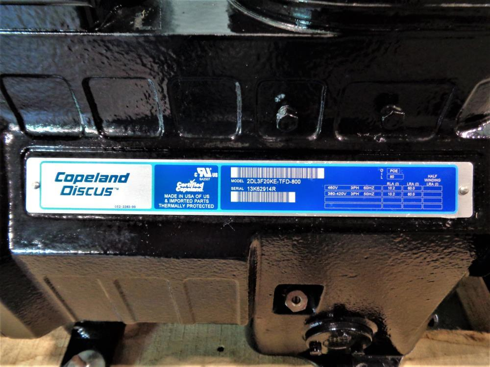 Copeland Discus Semi-Hermetic Compressor 2DL3F20KE-TFD-800