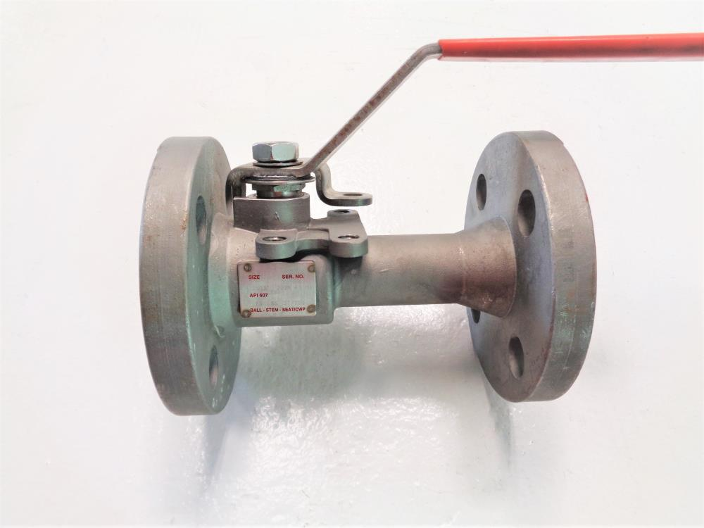 "Watts 1""-300# CF8M Flanged Ball Valve FA-791"