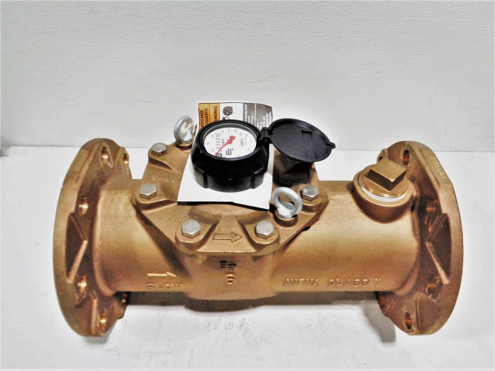 "Badger Meter Recordall 6"" Flow Meter, Bronze, T2000, Turbo Series"