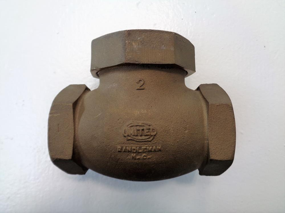 "United 2"" NPT Spring Lift Check Valve, 200 WSP, Bronze"