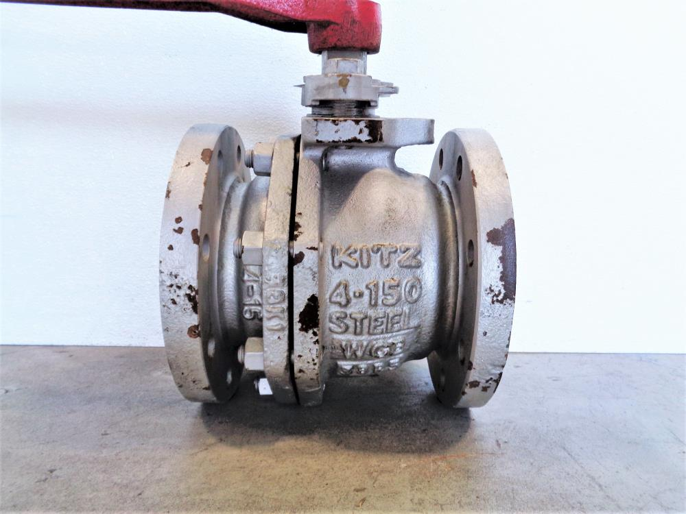 "Kitz 4"" 150# WCB Steel Ball Valve, Fig# K150SCTBM"