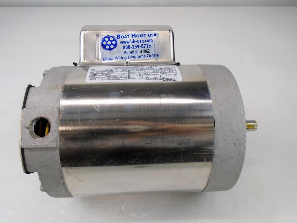 Electra-Gear 1HP Stainless Electric Motor 6439191210