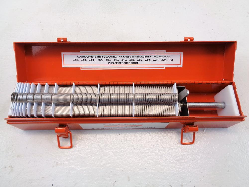 "Aloma ""A"" Shim Set - For use up to 1/2"" Bolt Size"