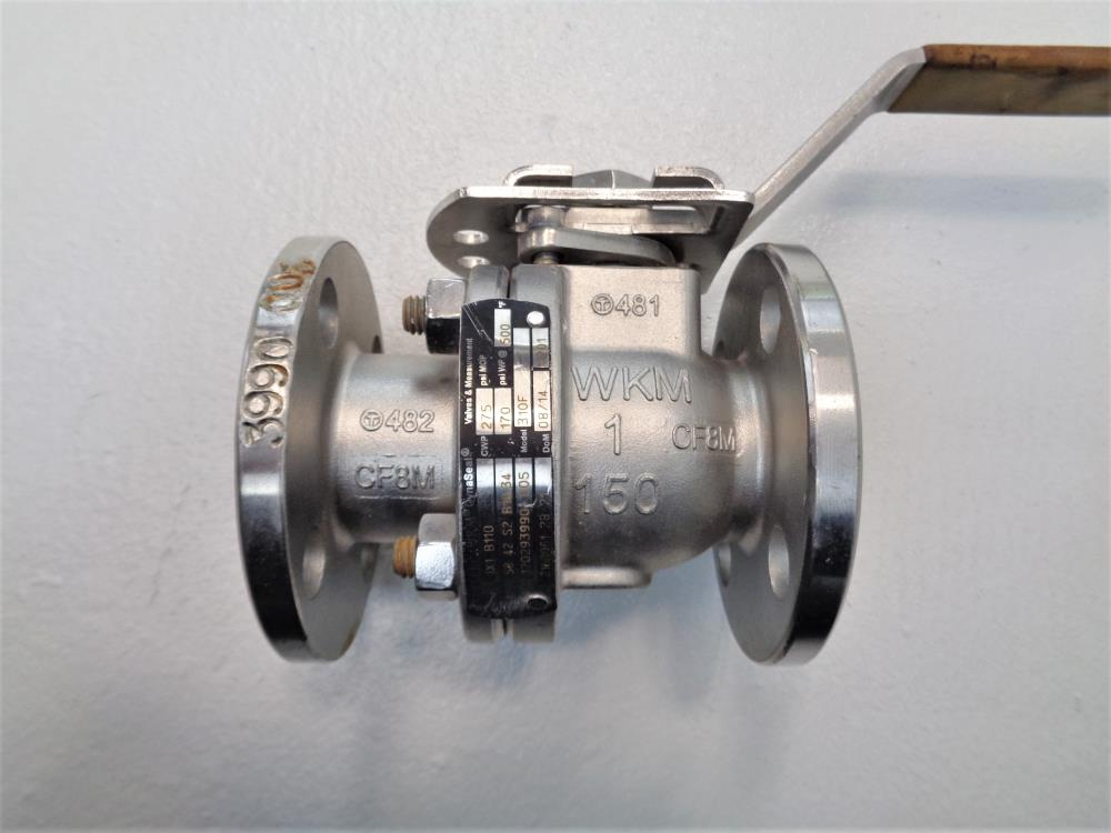 "Cameron WKM Dynaseal 1"" 150# CF8M 2-Piece Flanged Ball Valve 310F"