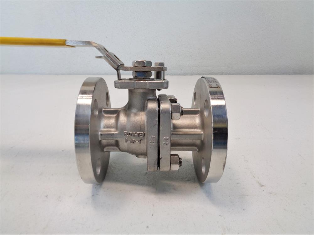 "Flow-Tek 1"" 150# CF8M 2-Piece Flanged Ball Valve F15-1"