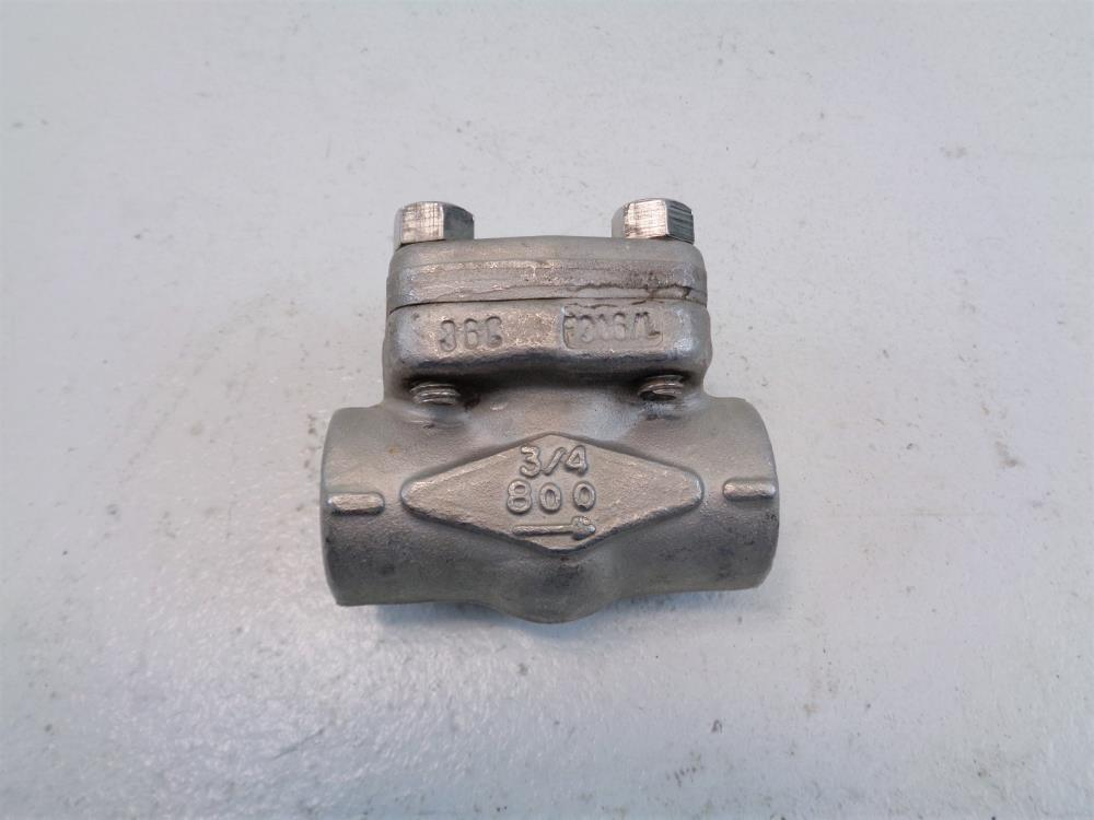 "SWI 3/4"" NPT 800# Stainless Steel Check Valve AJF-24AN-NA1C"