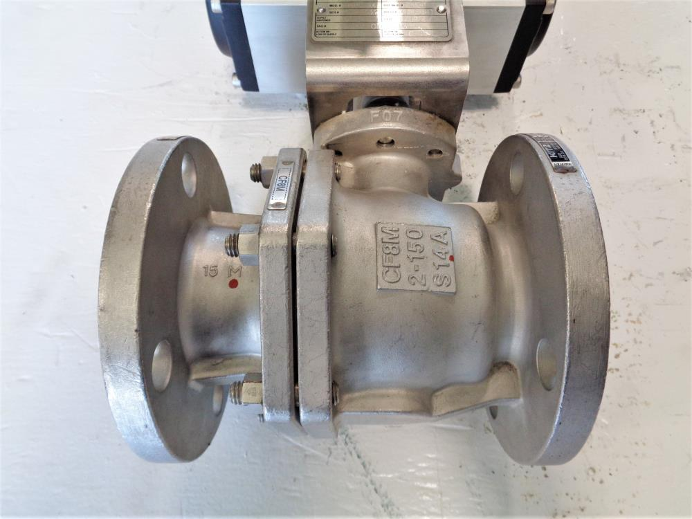 "Kitz 2"" 150# CF8M 2-Piece Ball Valve, Fig# 150UTDZM-FS with Rotork Actuator"