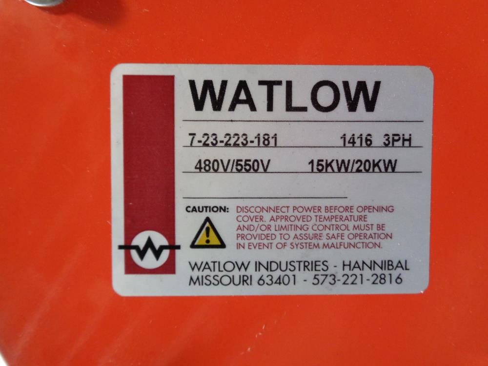 "Watlow Immersion Heater 5"" 150# A105 Flange 15KW/20KW 480/550V #7-23-223-181"