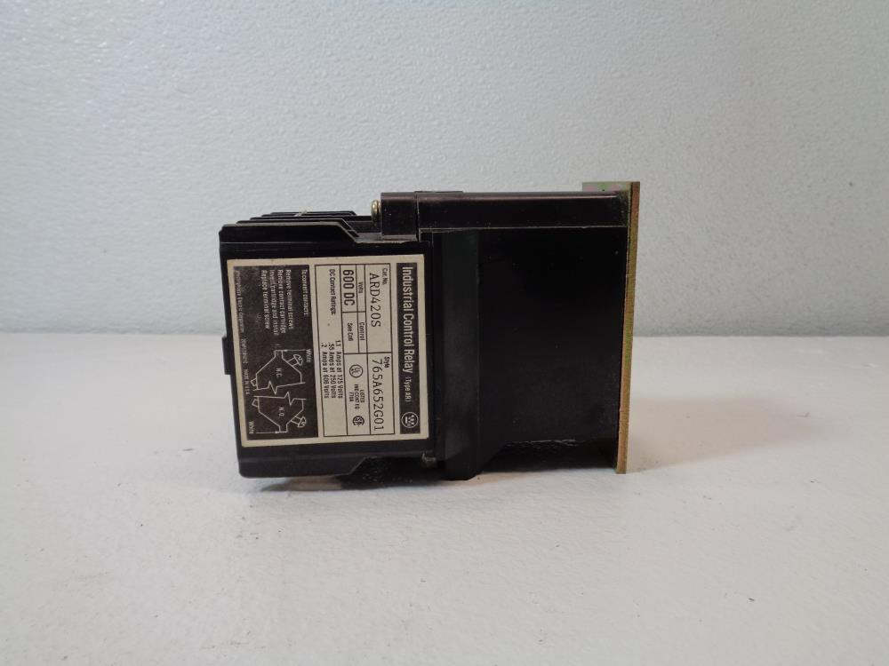 Westinghouse 4-Pole 120V Relay, Cat# ARD420S, Style# 765A652G01