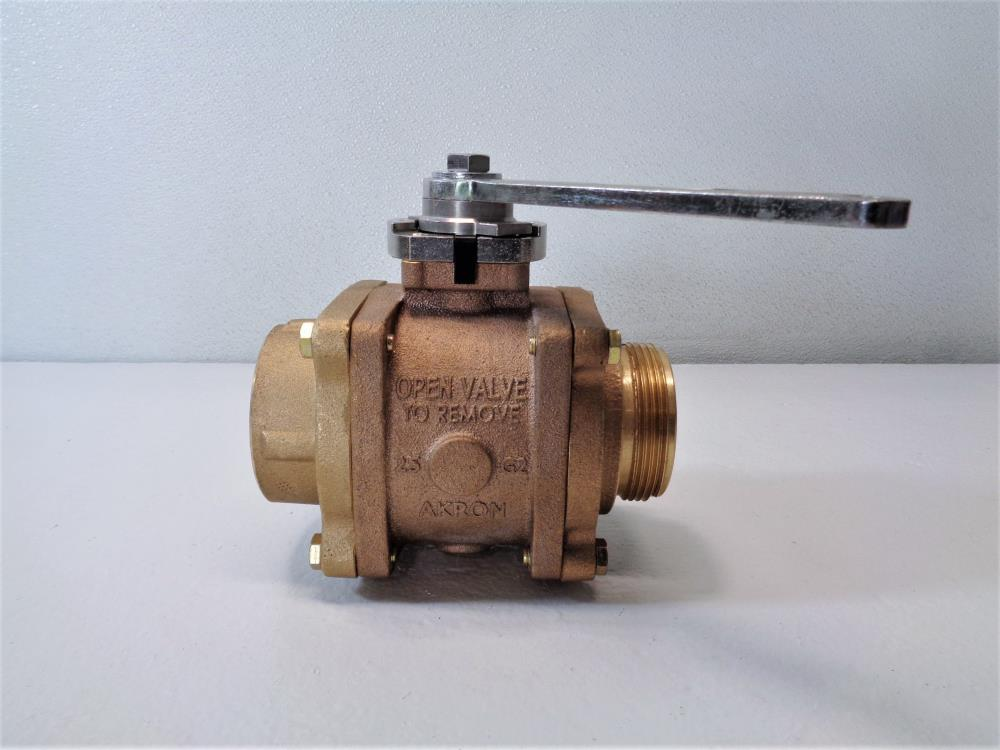 "Akron Brass 2.5"" MNPT x 2.5"" FNPT Heavy Duty Swing-Out Valve 88250119"