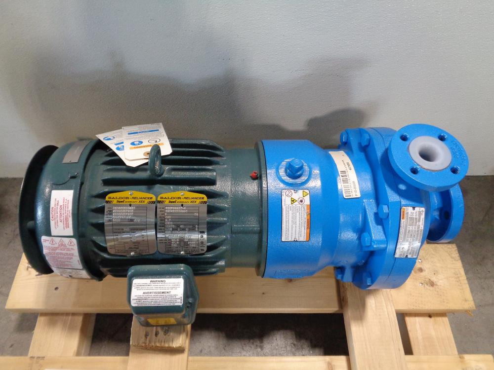 "ITT Goulds 3298 Chemical Process Pump 1""x1.5""-6"", Tefzel Liner with 5HP Motor"