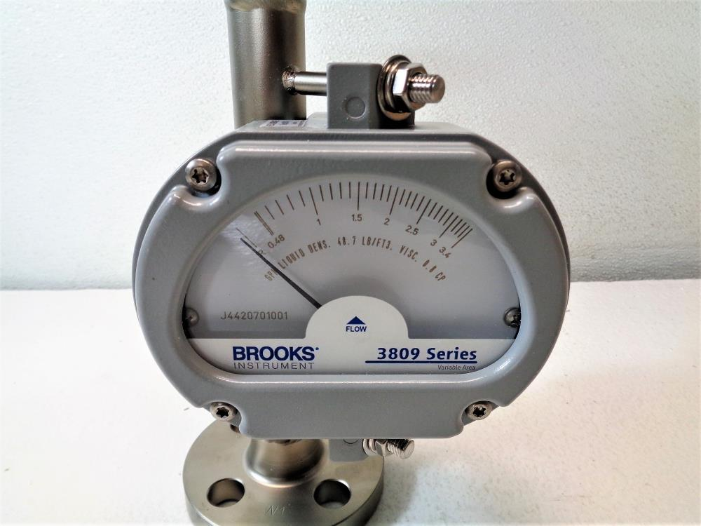 "Brooks 3809 Armored Variable Area Flowmeter, 1/2"" Flanged, 3809GKA08CGAB1A00000"
