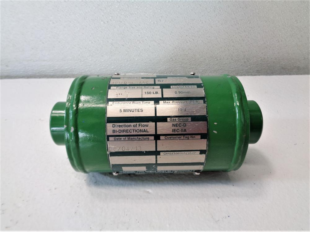 "Enardo 1"" Threaded In-Line Flame Arrestor 301/D-IL-AAC"