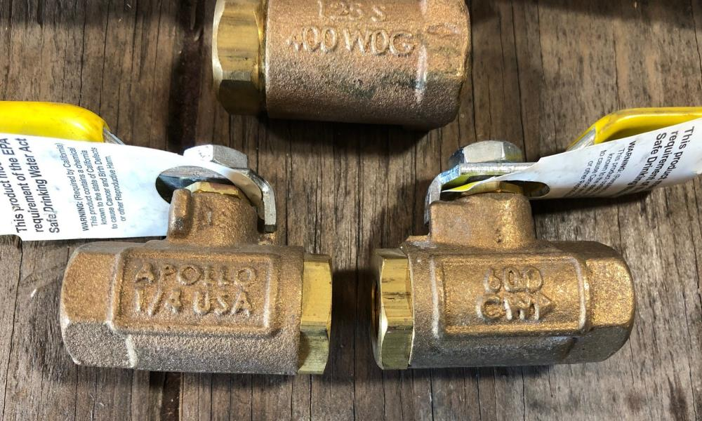 "Lot of Apollo 1/4"" Bronze Ball Valves 70-108-01 & Ball Cone Check 61-101-01"