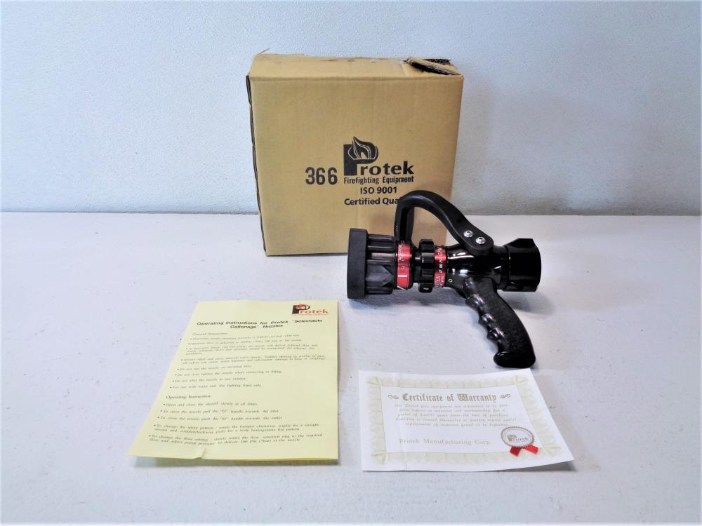 "Protek Style #366 1-1/2"" Selectable Gallonage Firefighting Nozzle"