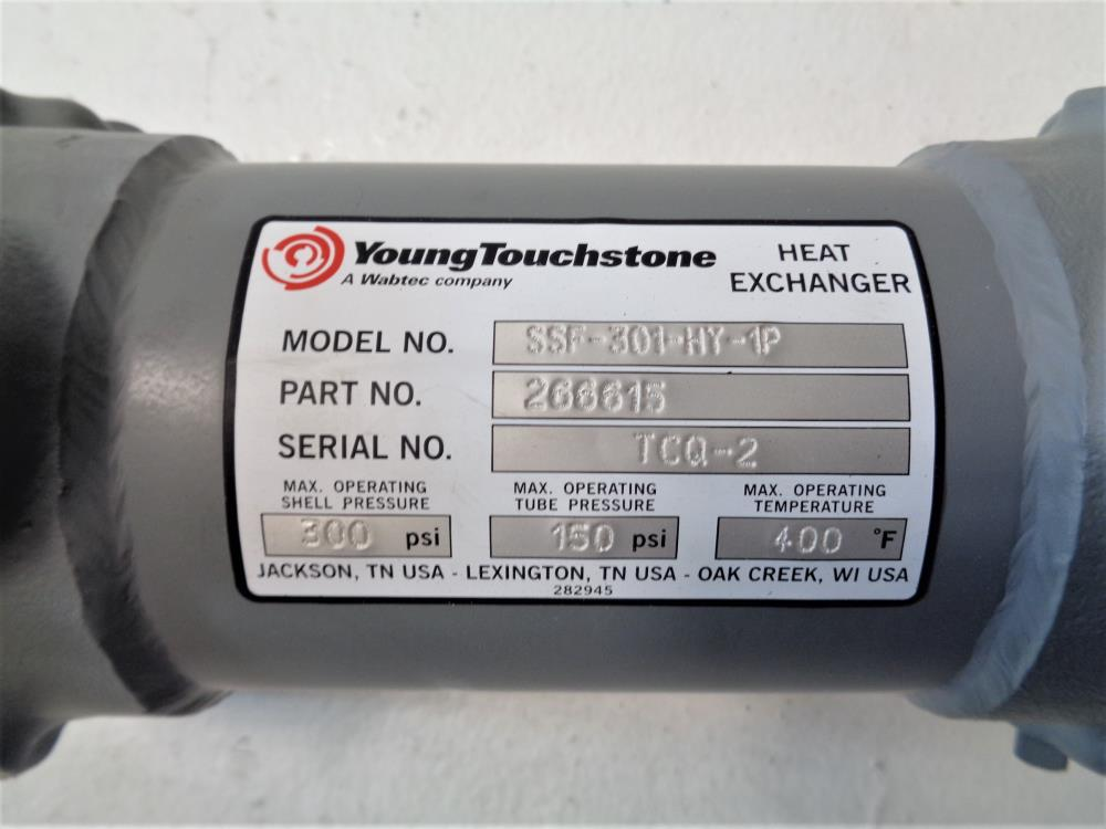 Young Touchstone Fixed Bundle Heat Exchanger, Model SSF-301-HY-1P, Part 266615