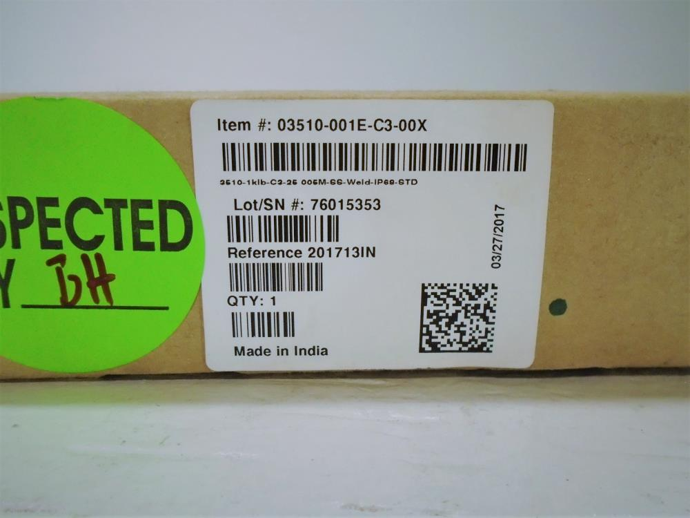 Tedea-Huntleigh 1000 Lb. Load Cell, Model# 3510