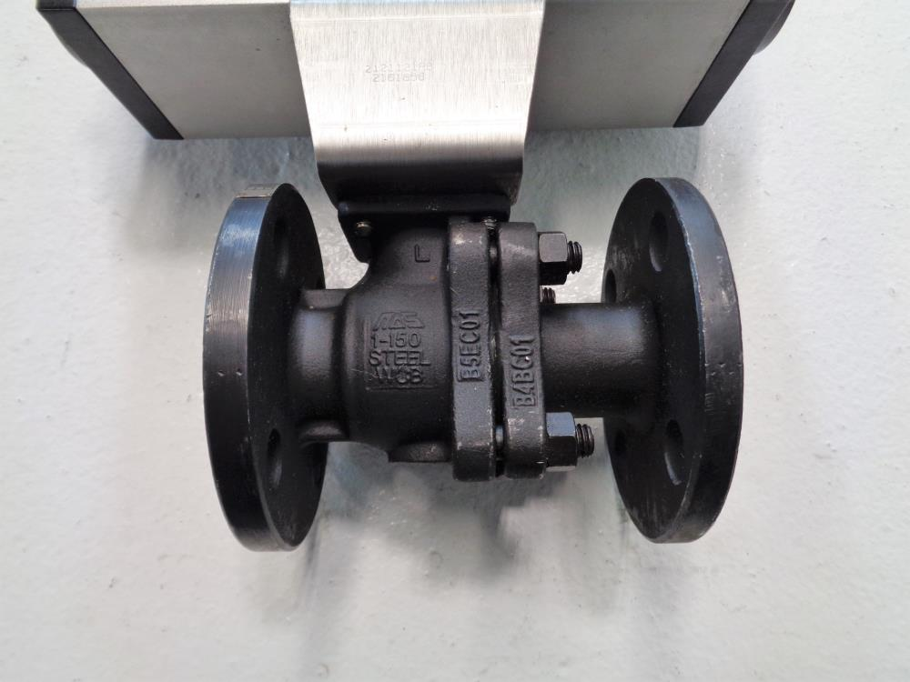 "Mas 1"" 150# WCB 2-Piece Actuated Ball Valve MT26.S4.F05-F07.CH17"
