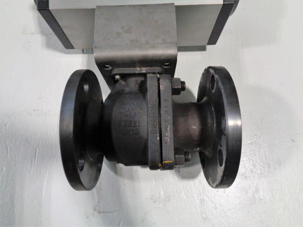 "Mas 2"" 150# WCB 2-Piece Actuated Ball Valve MT41.S4.F07-F10.CH22"