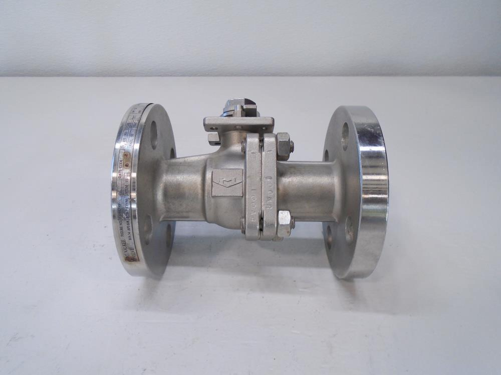"Milwaukee 1"" 300# CF8M 2-Pc Full Port Ball Valve F20SS300F"