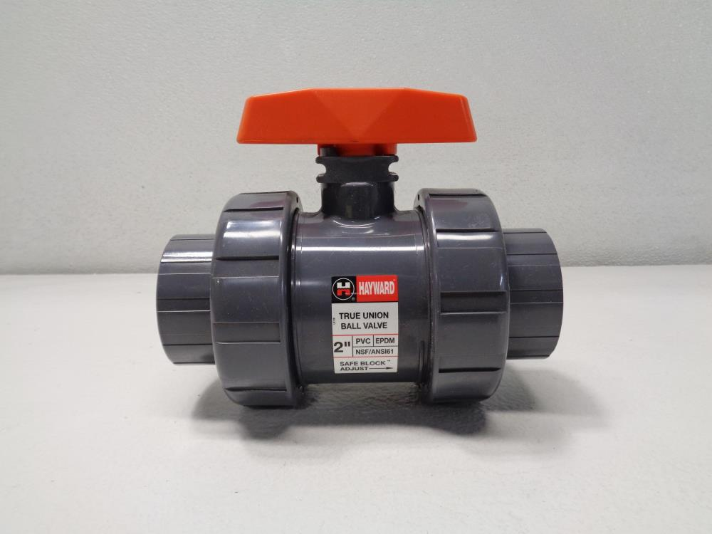 "Hayward 2"" Socket Thread EPDM True Union Ball Valve, PVC, TB1200STE"