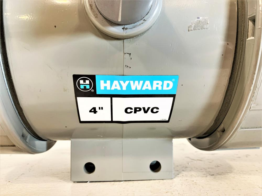 "Hayward 4"" CPVC 3-Way Ball Valve"