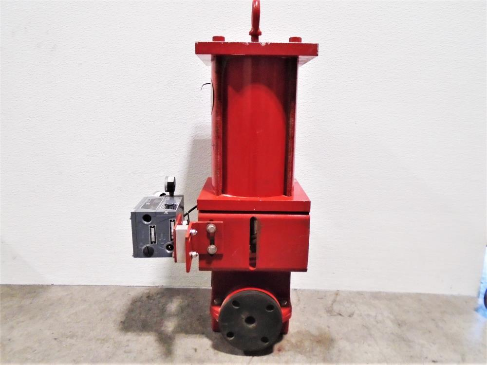 "Red Valve 2"" DI Control Valve w/ BLX Positioner & BLX Transmitter, Series 5200"