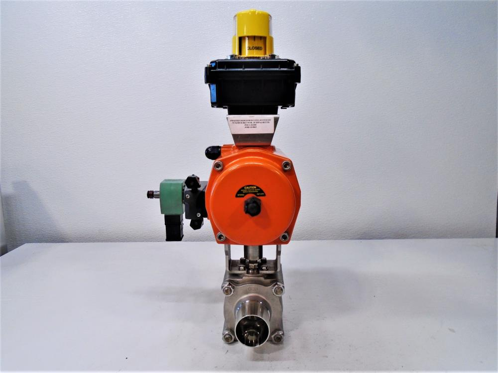 "Sharpe 2"" Sanitary Ball Valve w/ Bettis Actuator & Westlock Position Monitor"
