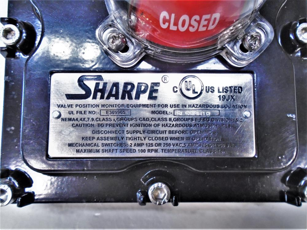 Sharpe Torque Limit Switch, Model SLS9MH10, Max Shaft Speed 100 RPM