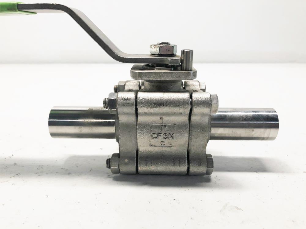 "Habonim 1"" Weld Sanitary Ball Valve, Stainless, A48X-6666AT/ETO"