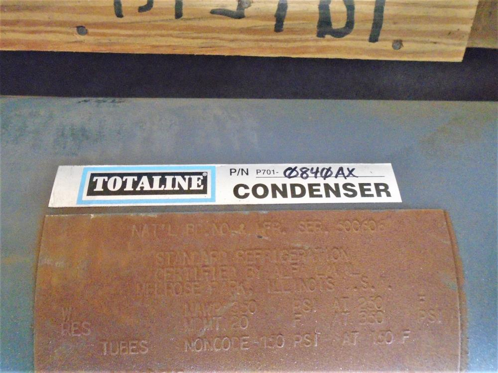 "Totaline 8"" Water-Cooled Condenser, 40-Tons, Large AX, 2-Pass, P701-0840AX"